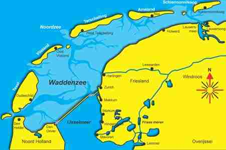 Waddenzee-waterkaart
