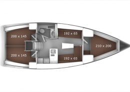 Bavaria 37 Layout Windkracht 5 Zeilboot huren