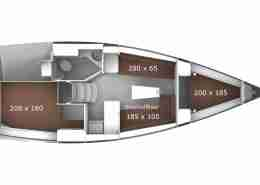 Windkracht 5 Bavaria 33 Layout