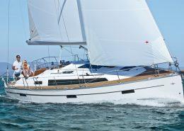 Zeilboot huren Bavaria 37 Cruiser onderzeil