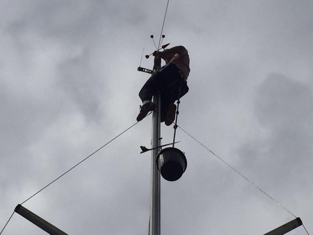 Lars in de mast Enkhuizen Windkracht 5