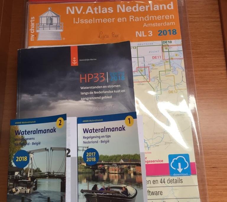 Waterkaarten Windkracht 5 NV Atlas NL2 en NL3